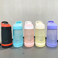 550ml Water Bottle for Kids Children Mini Water Bottle with Straw Sports Bottles FDA Certified Hiking Camping BPA Free H1151|Water Bottles| |  -