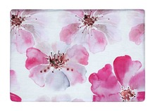 Floor Mat Watercolor Beautiful Pink Blossom Flowers Print Non-slip Rugs Carpets alfombra For Indoor Outdoor Living Room