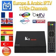 KII PRO Android Tv Box DVB-T2 DVB-S2 2 GB Couru 16 GB Rom Amlogic S905 Quad-core Android 5.1 Smart Tv Box 1 Année IPTV Europe Italie