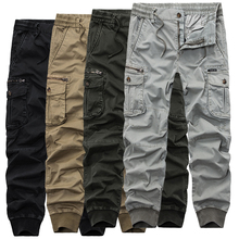 2021 Hot Fashion Tactical Cargo Pants Men Casual Slim Mens Joggers Pants Military Ankle-tied Trousers Men