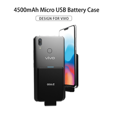 Micro USB 4500mAh Battery Charger Case For VIVO X21 X20 Plus Z1 X21i Powerbank C