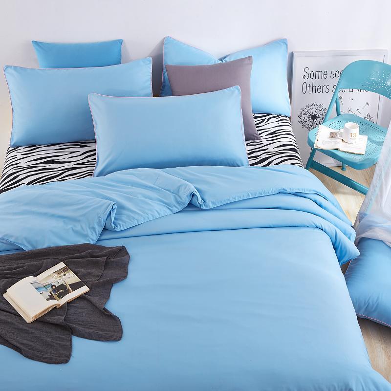 unikea ropa de cama de algodn establece mar poco profundo azul cebra sbana y