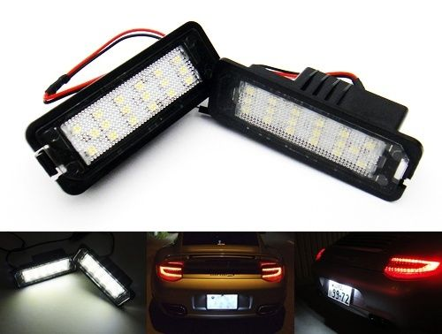 CYAN SOIL BAY LED License Plate Light No Error For Porsche Boxster Cayenne Cayman 997 911 Carrera летняя шина cordiant road runner ps 1 185 65 r14 86h