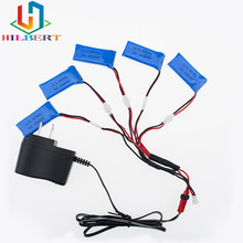 5pcs 3.7V 500mAh LiPo Battery with charger for Hubsan H107 h107c H107P YD928 U816 rc Wltoys