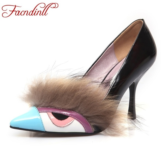 FACNDINLL new 2017 new fashion spring autumn shoes woman sexy pumps high heel pointed toe wedding shoes pumps women party shoes