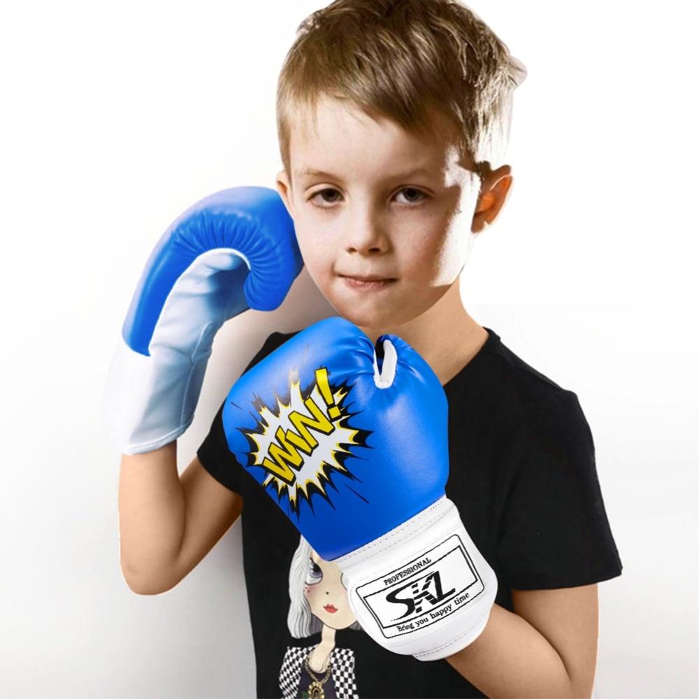 Junior kids 6-oz Boxing Gloves Sparring training bag mitt gloves