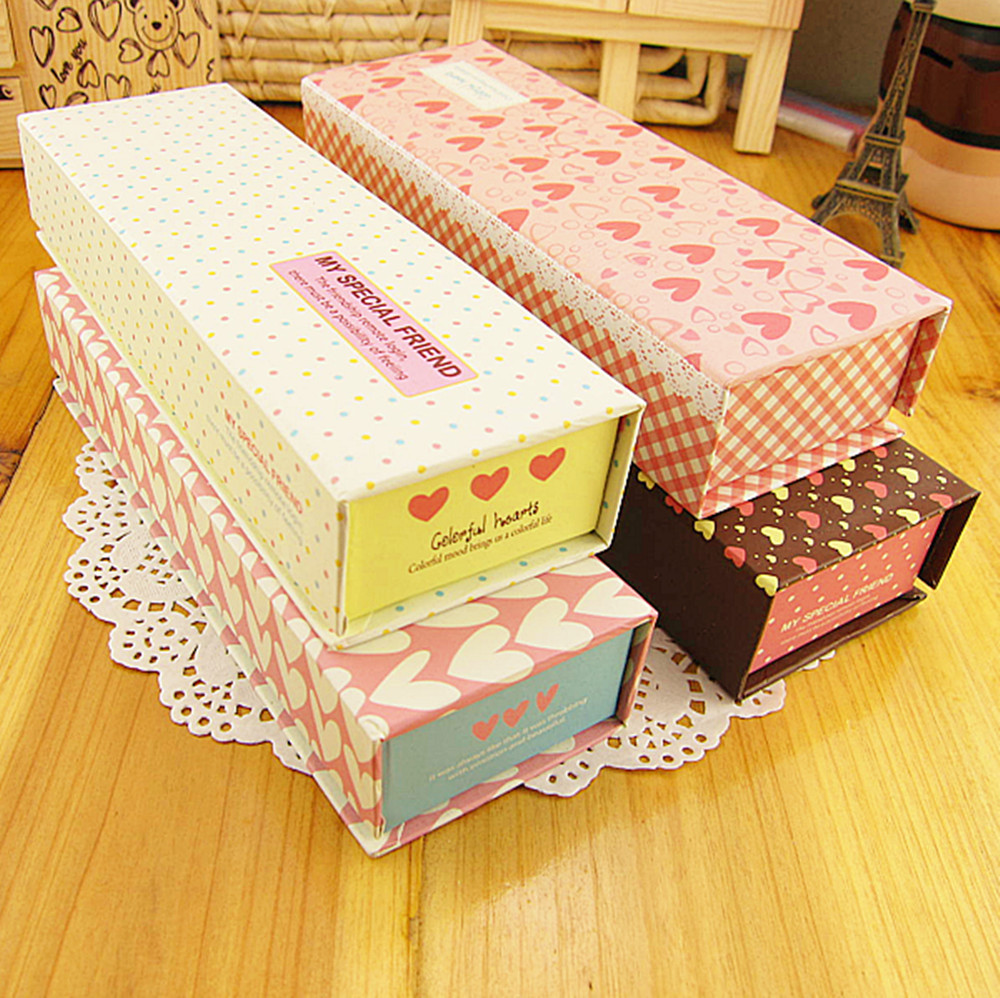Middot . multicolour sponge paper pencil box stationery box storage box jewelry box