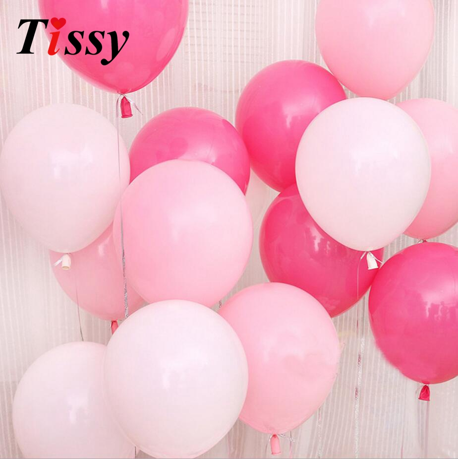 30PCS 10inch Balloons Latex Inflatable White/Pink/Rose Balloons for Home Wedding Party Decoration Bachelorette Party Supplies