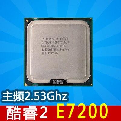 E7200 Computer Processor for Intel E7200 Cpu dual core CPU 2 53GHz LGA775 3MB L2 Cache