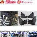 Бесплатная доставка крышка автомобилей пластиковые крыло мягкая крыло защиты брызговики брызговик 4 шт. Для Renault Captur 2015 2016