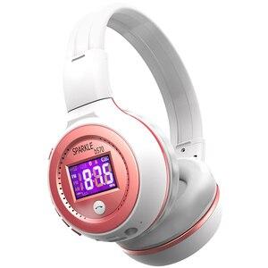 Image 2 - Słuchawki bezprzewodowe z bluetooth zestaw słuchawkowy Stereo HiFi z mikrofonem Radio FM karty Micro SD gra dla iphone huawei samsung
