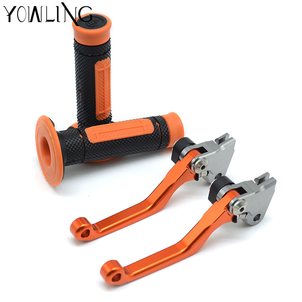 Hand Grips Handle Rubber Bar Gel Grip Dirt bike brakes Pivot Brake Clutch Levers For KTM 450XC 450XC-F 2005 2006 2007 2008