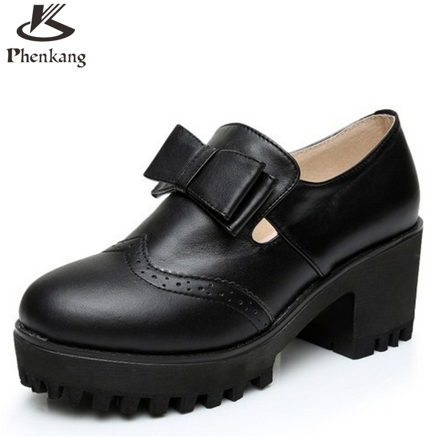 ФОТО Cow leather woman shoes US size 8 designer vintage High heels round toe handmade black white pumps 2017 sping with fur
