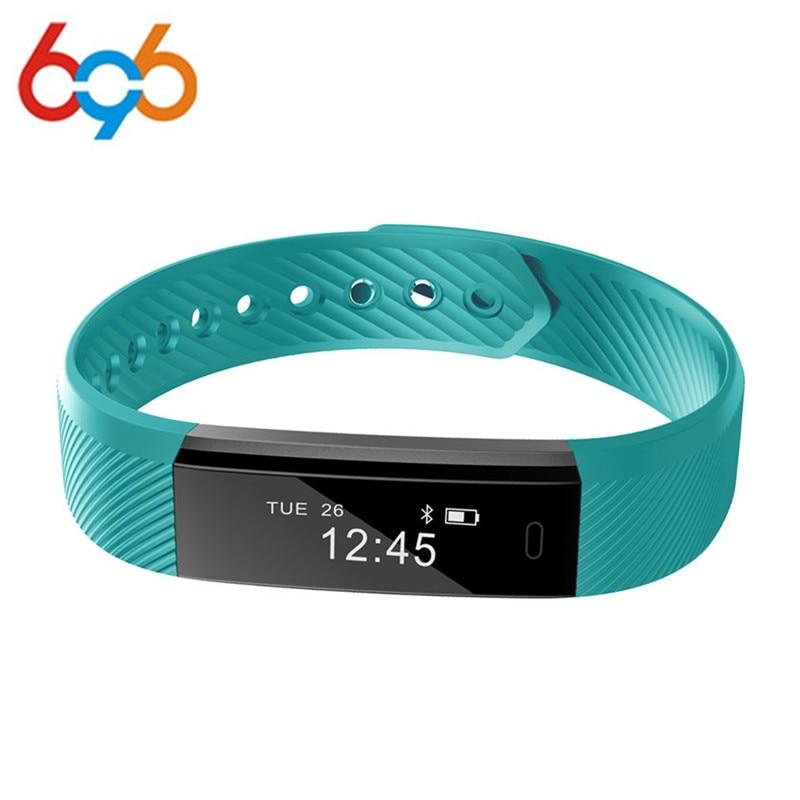 Smart Band ID115 HR Bluetooth pulsera Monitor de ritmo cardíaco Fitness Tracker Pedometer pulsera para teléfono pk FitBits mi 2 Ajuste