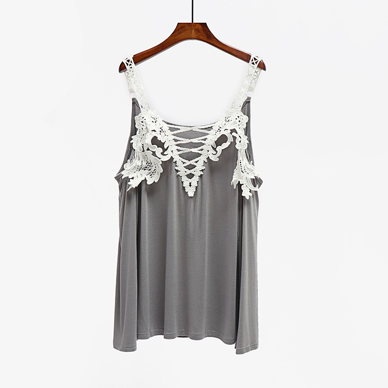Hot lace stitching women trumpet sleeves shirt Solid color comfortable T shirt female plus size in T Shirts from Women 39 s Clothing