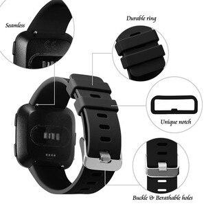 Image 3 - Coolaxy רצועת עבור Fitbit Versa להקת חכם שעון יד צמיד להקת עבור Fitbit Versa לייט רצועת סיליקון החלפת Fit קצת