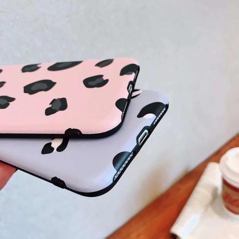 Mulheres de luxo Feminino Estampa de Leopardo Casos de Telefone Para Samsung Galaxy S8 S9 S10 Plus IMD Macio TPU Silicone Capas para samsung Nota 8 9