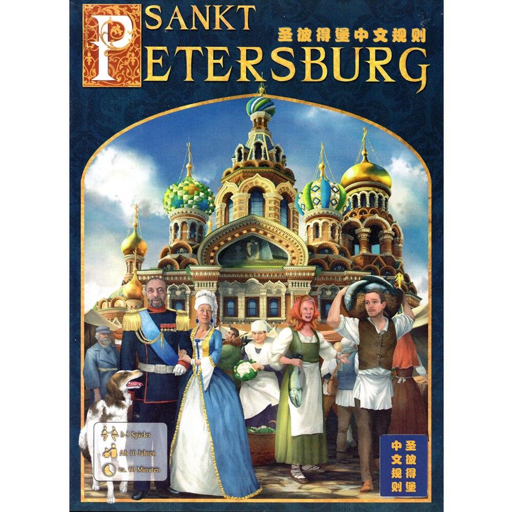 Chinese Version Board Games SANKT PETERSBURG Instruction In Description board games