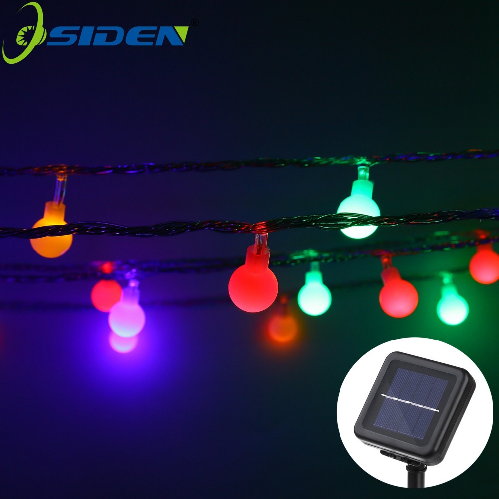 OSIDEN Globe Outdoor Solar Lichtslingers 8 M 12 M Fairy Kerstbel Crystal Ball String Light voor Outdoor Xmas Tree Garden