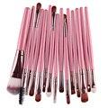 15 Unids/set Cepillo Cosmética de Maquillaje Mujeres Sombra de Ojos Fundación Lip Marca Ojo Pinceles de Maquillaje Set de Accesorios Para Las Mujeres