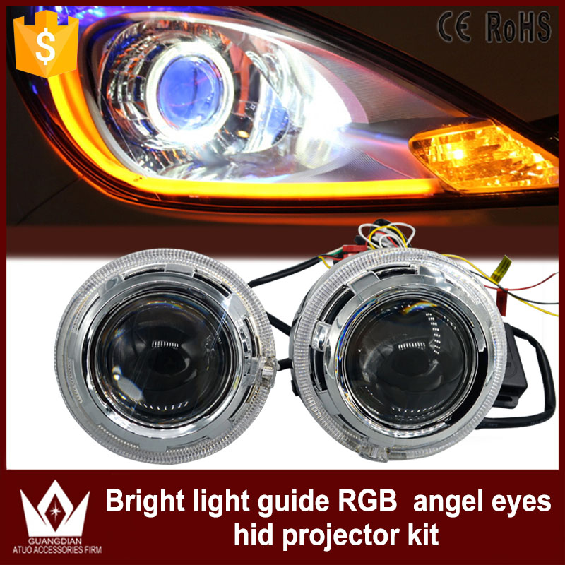 Tcart 1Set Auto Led Angel Eyes Lights Headlight HID Bi Xenon Lens Bluetooth  With APP Remote Control RGB Angel Eyes For BMW M3 M4 In Car Light Assembly  From ...