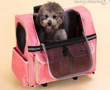 Dog Backpacks Pets Shoulder Bags Travel Lod Box Draw-Bar Box Puppy Knapsacks Breathable Ventilated