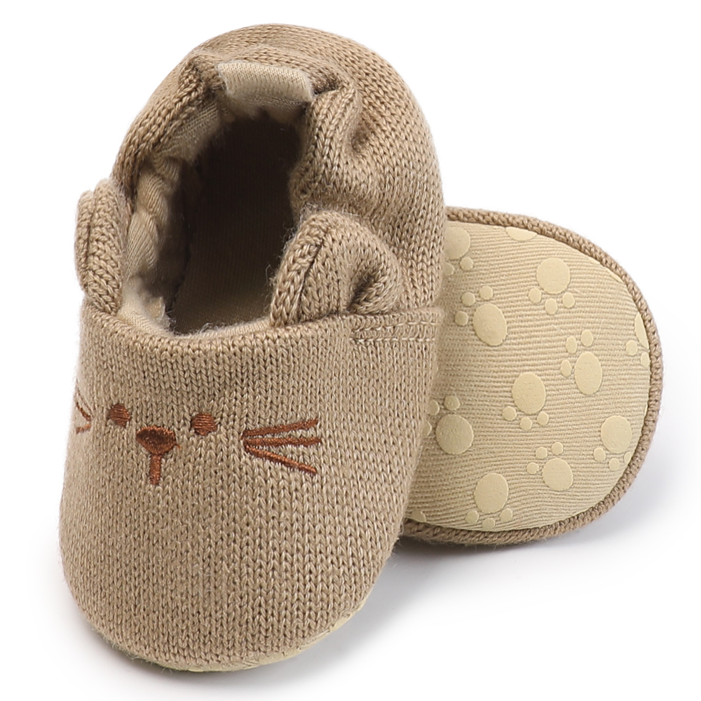 Winter Warm Kids Slippers Home Indoor Shoes For Girls Boys Mouse Animals Pattern