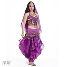 5-piece set of small pepper + rotating pants veil belly dance Indian show