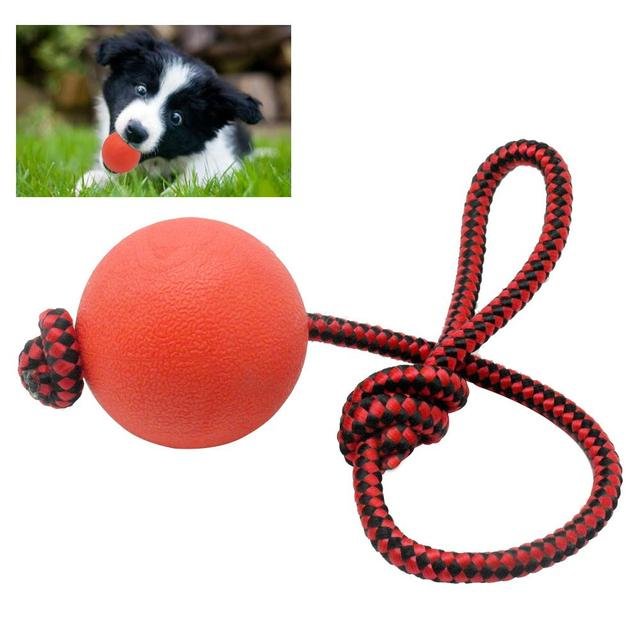 Solid Rubber Dog Chew Training Ball Toys Tooth Cleaning ...