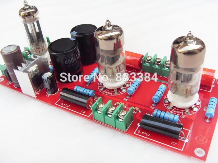 Buffer 6N3+6Z4 Tube SRPP Preamplifier Amplifier board Pre-amp Audio Version 2.0 free shipping