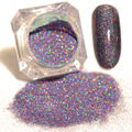 1.5g  Starry Holographic Laser Powder Purple orchid Manicure Nail Glitter Powder Pigment #7