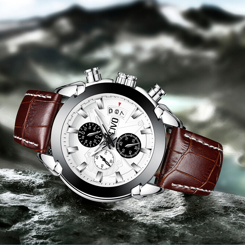 72148a8766f CIVO Men s Watch Waterproof Date Calendar Fashion Quartz Wrist Watch For Men  Teenager Boys Chronograph Leather Sport Watches Men