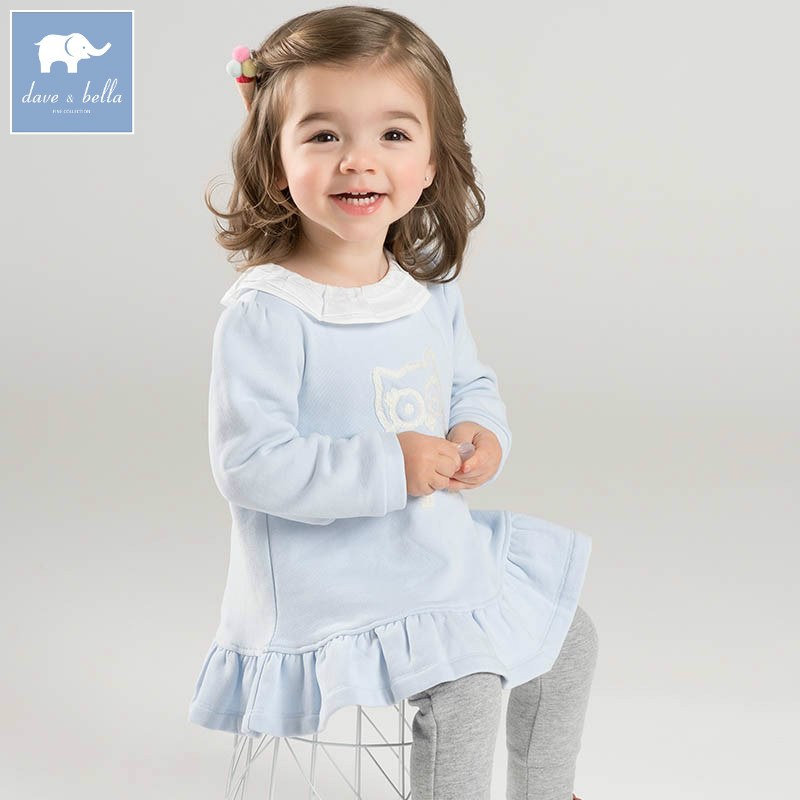 DB7377 dave bella spring infant baby girls fashion print tee kids cotton lovely tops children toddler high quality clothes db2588 dave bella autumn unisex infant baby girls boys fashion t shirt kids cotton lovely tops children high quality tee
