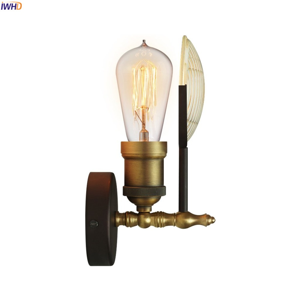 IWHD Loft Style Industrial Retro Wall Lights For Home Lighting Bedroom Stair Bathroom Mirror Light Vintage Wall Lamp Sconce LED
