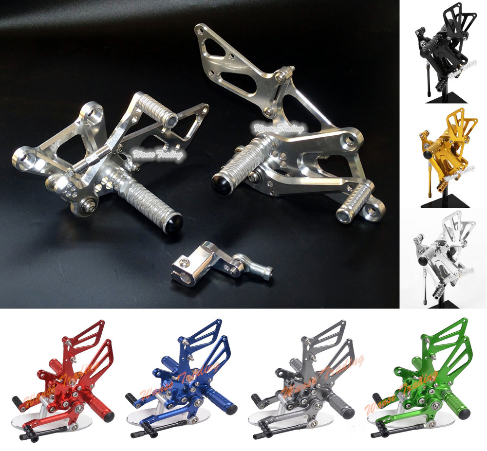 waase CNC Adjustable Rider Rear Sets Rearset Footrest Foot Rest Pegs For Honda CBR250R CBR 250R MC41 2011 2012 2013 adjustable rider rear sets rearset footrest foot rest pegs gold for suzuki gsxr600 gsxr750 gsxr 600 750 2011 2012 2013 2014 2015