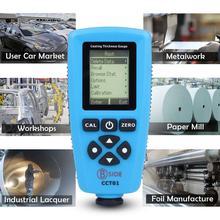 Digital Coating Thickness Gauge BSIDE CCT01 1 micron/0-2000um Car Paint Film Thickness Tester Meter Measuring FE/NFE