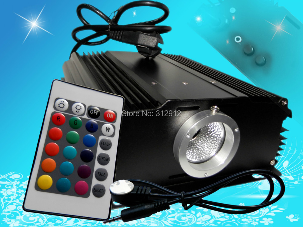 24key IR 45W LED RGB light engine,AC100-240V input 27w led rgb fiber optic illuminator with 24key ir remote and shooting star wheel ac100 240v input