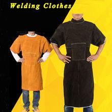 Яловая кожа сварочная куртка сверхмощная сварочная одежда износостойкая анти-ожогов огнестойкая с рабочей одеждой