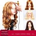 Profissional estilo de cabelo cabeça manequim cabeça com cabelo humano cabeleireiro manequins 85% manequim cabeça cabelo real cabeça de cabeleireiro