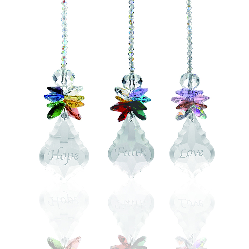 H&D Rainbow Suncatcher Clear Crystal Ball Angle Prisms Hanging Pendants Window Decor Home Fengshui Hanging Pendan