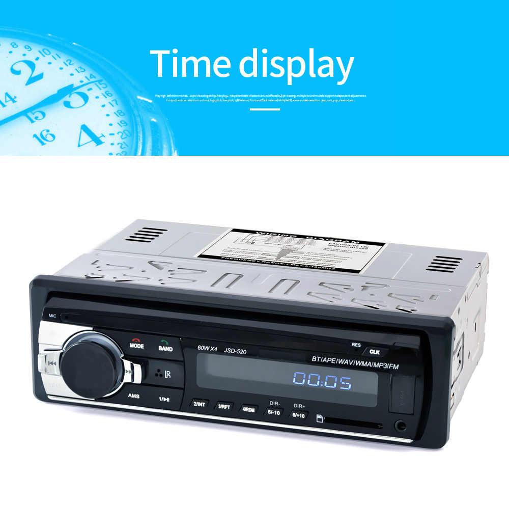 Новый универсальный 2018 автомобильный стерео Bluetooth Радио Аудио плеер приемник в-dash FM Aux вход WMA WAV MP3 плеер с SD/USB портом