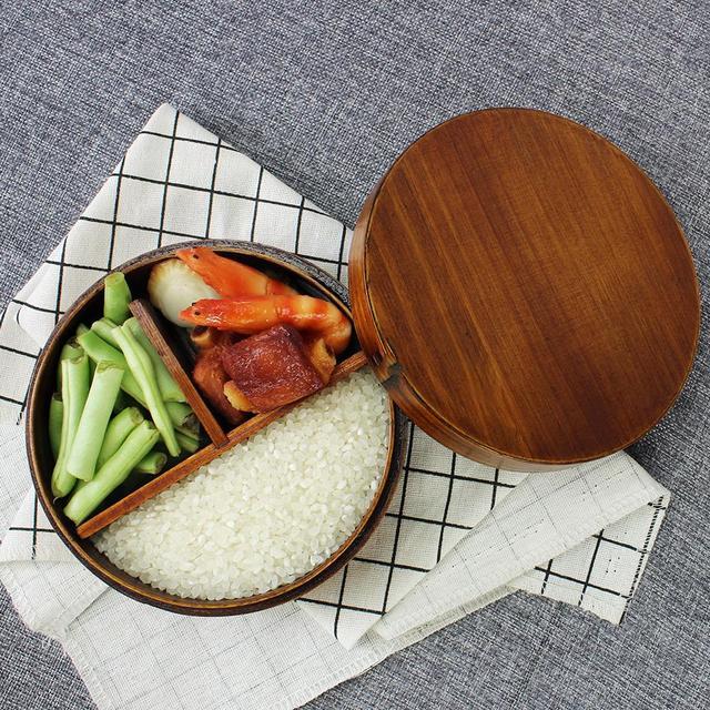 Japanese Round Wooden Lunch Box