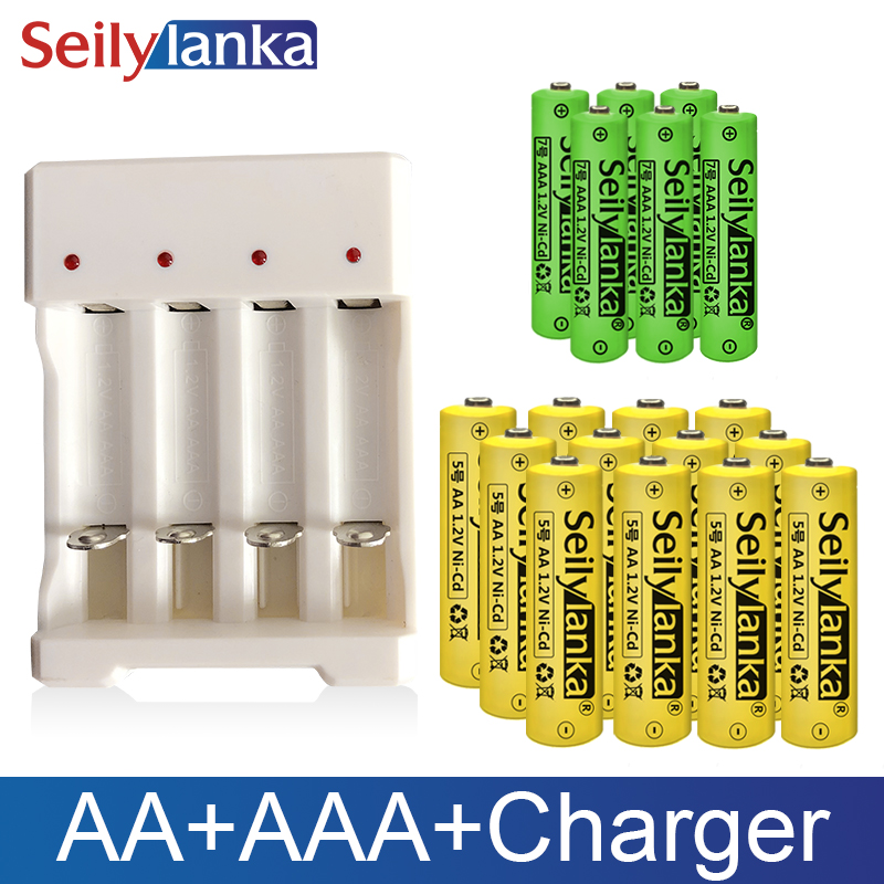 1.2V AA AAA Rechargeable Battery Ni CD Led Torch Toys RC NH Cell Charger High Capacity