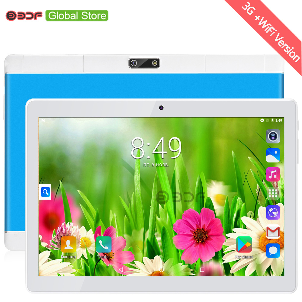10 Inch Russian Warehouse Ships 3G Android Tablet 1GB RAM 32GB ROM Mobile Phone Call Sim Card Tablets Pc Android 7.0