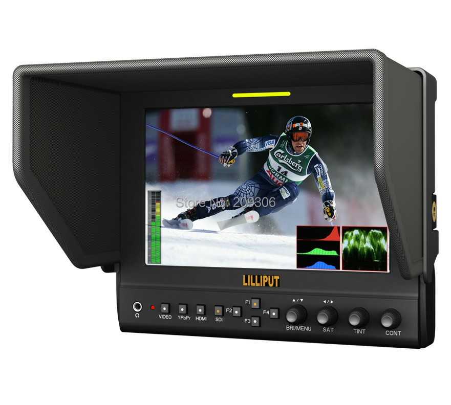 LILLIPUT 663 7 TFT LED field HDMI monitor with AV YPbPr input for DSLR Full HD camcorder HDMI monitor