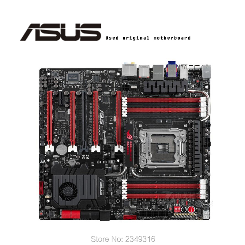 For ASUS RAMPAGE IV EXTREME/BF3 Used original motherboard <font><b>Socket</b></font> LGA <font><b>2011</b></font> DDR3 <font><b>X79</b></font> Desktop Motherboard image