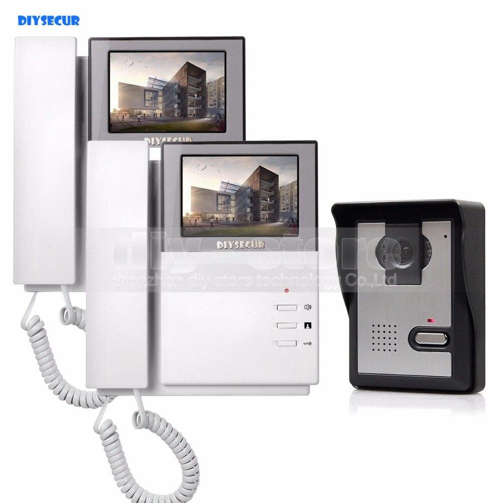 DIYSECUR 800 x 480 HD 4.3inch Video Intercom Video Door Phone Doorbell 1 Camera 2 Monitors for Home / Office Security SystemDIYSECUR 800 x 480 HD 4.3inch Video Intercom Video Door Phone Doorbell 1 Camera 2 Monitors for Home / Office Security System