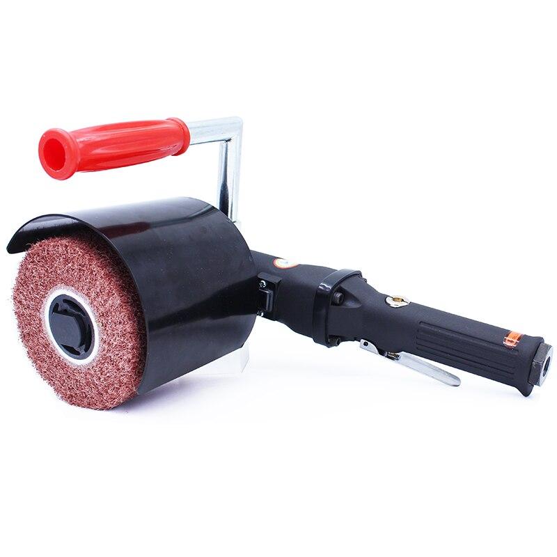 Hohe Qualität Pneumatische Drahtziehmaschine Tragbare Air Brushed Zeichnung Grinder Metall Polierer Poliermaschine