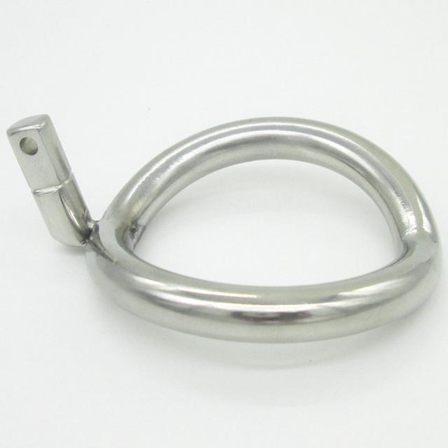 NEW Super Pequeno Dispositivo de Castidade Masculino de Aço Inoxidável Gaiolas Galo Anel Peniano Anel Adicional 8 Tamanho Escolher Brinquedos Adultos Do Sexo