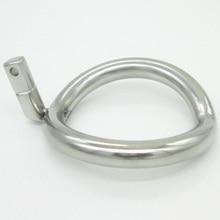 Super Pequeño Dispositivo de la Castidad Masculina de Acero Inoxidable Jaulas Cock Cock Ring ring Adicional 8 Tamaño Elegir Juguetes Adultos Del Sexo
